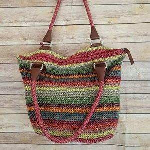 The Sak MultiColor Stripes Boho Handbag